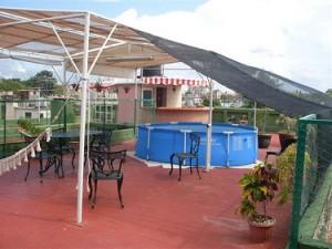 Terraza con Piscina - Casa Tania Cienfuegos