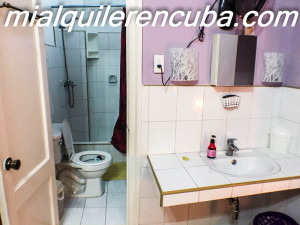 Baño del apartamento independiente - Apartamento Mery en Vedado